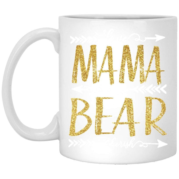 Mama Bear Gold Coffee Mug