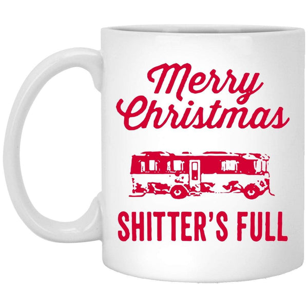 MERRY CHRISTMAS SHITTERS FULL Christmas Coffee Mug