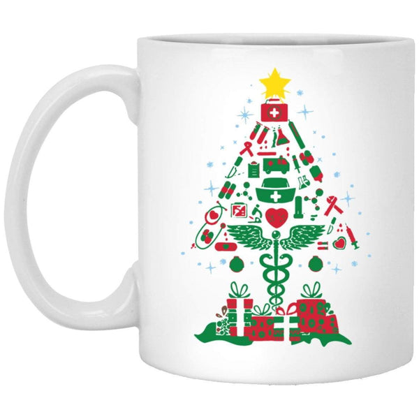 NURSING TREE Christmas Coffee Mug