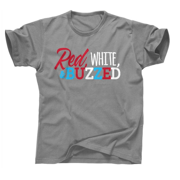 RED WHITE AND BUZZED COLORS