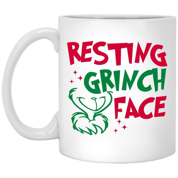 RESTING GRINCH FACE Christmas Coffee Mug