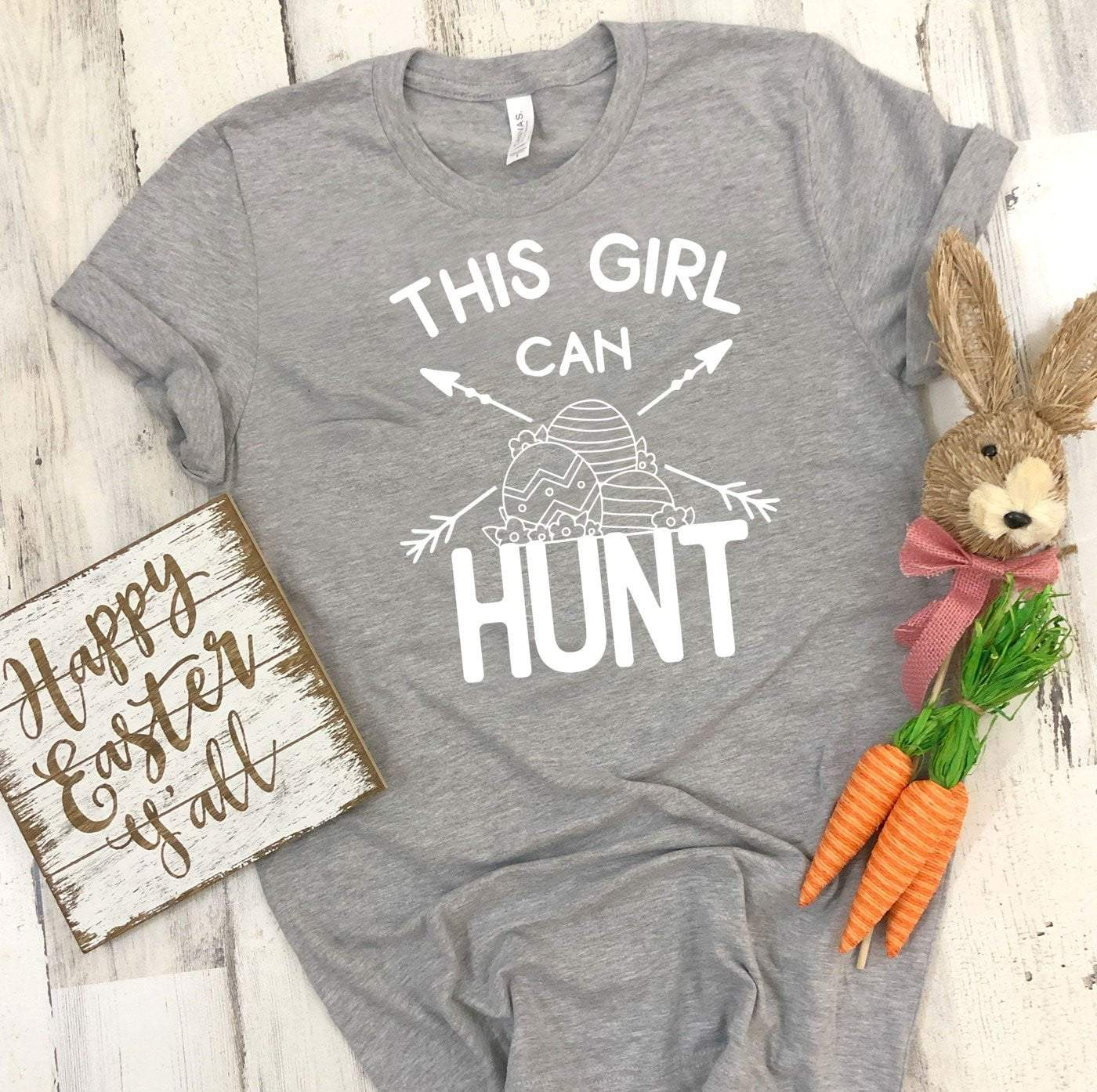 This Girl Can Hunt Easter T's And Crews