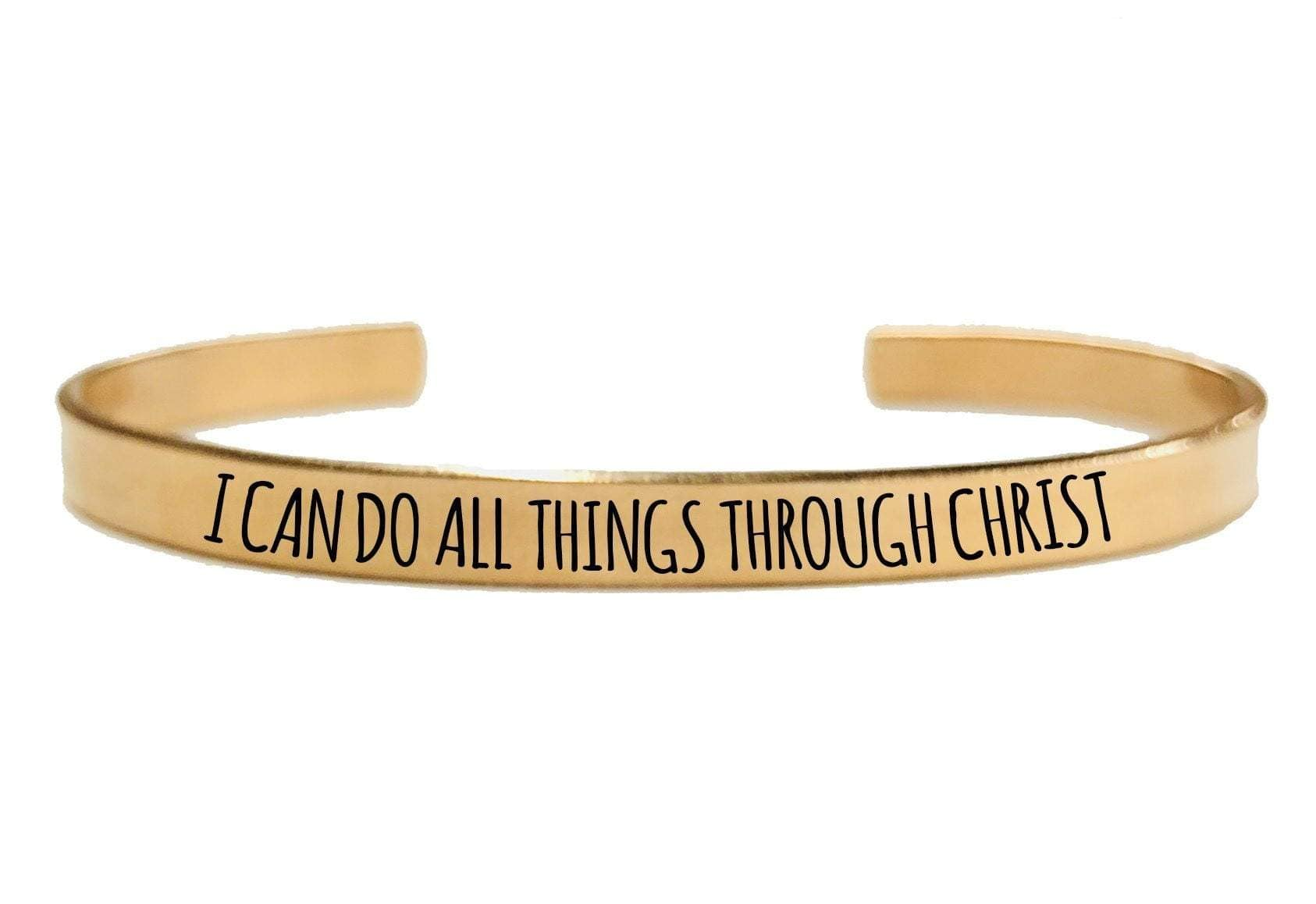 I CAN DO ALL THINGS THROUGH CHRIST CUFF BRACELET