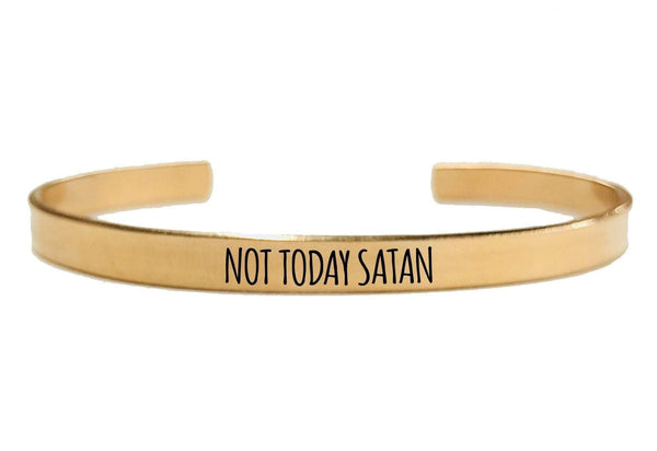 NOT TODAY SATAN CUFF BRACELET