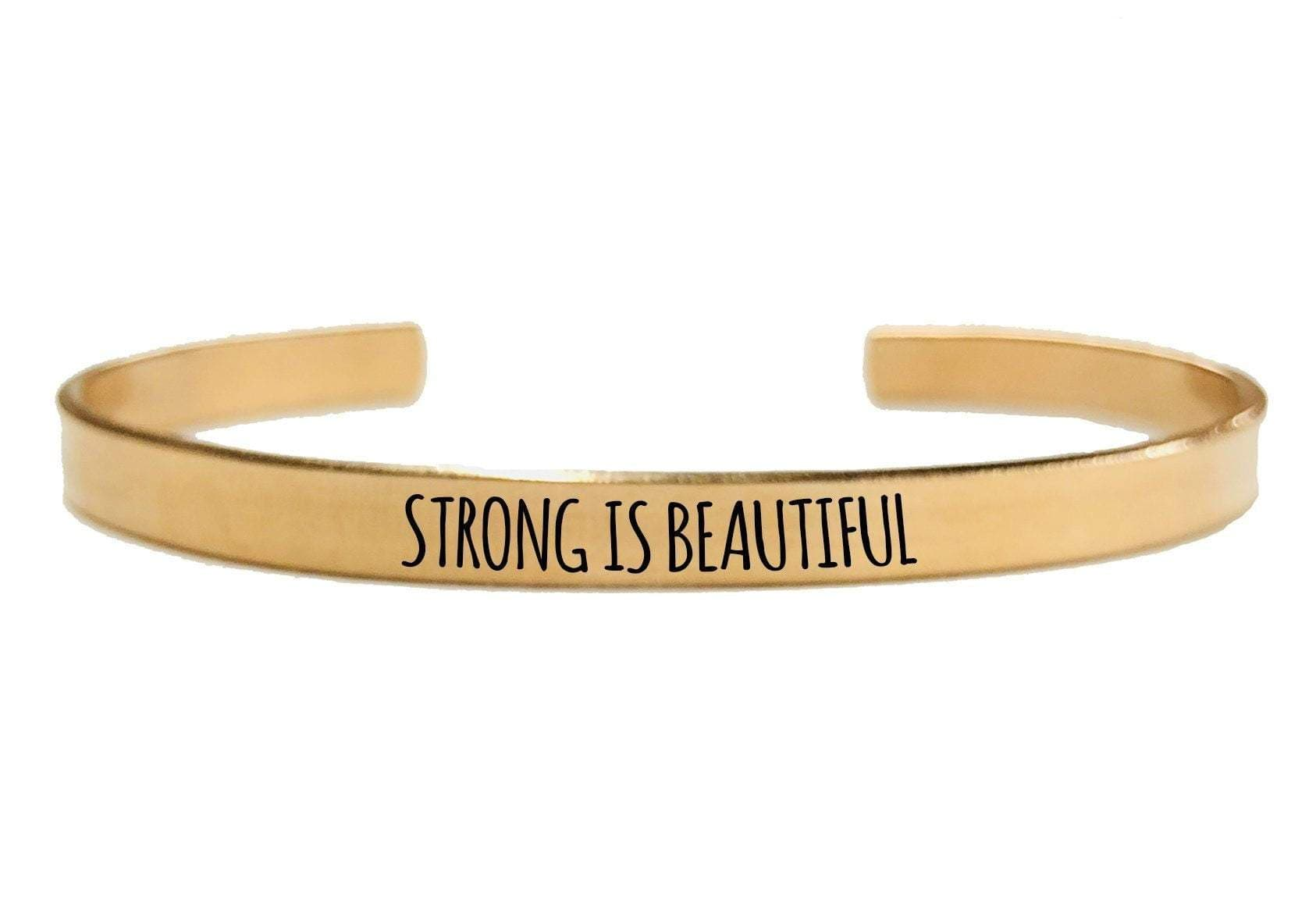 STRONG IS BEAUITIFUL CUFF BRACELET