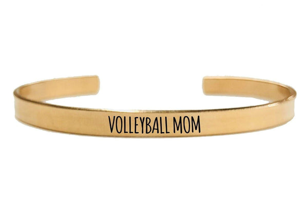VOLLEYBALL MOM CUFF BRACELET