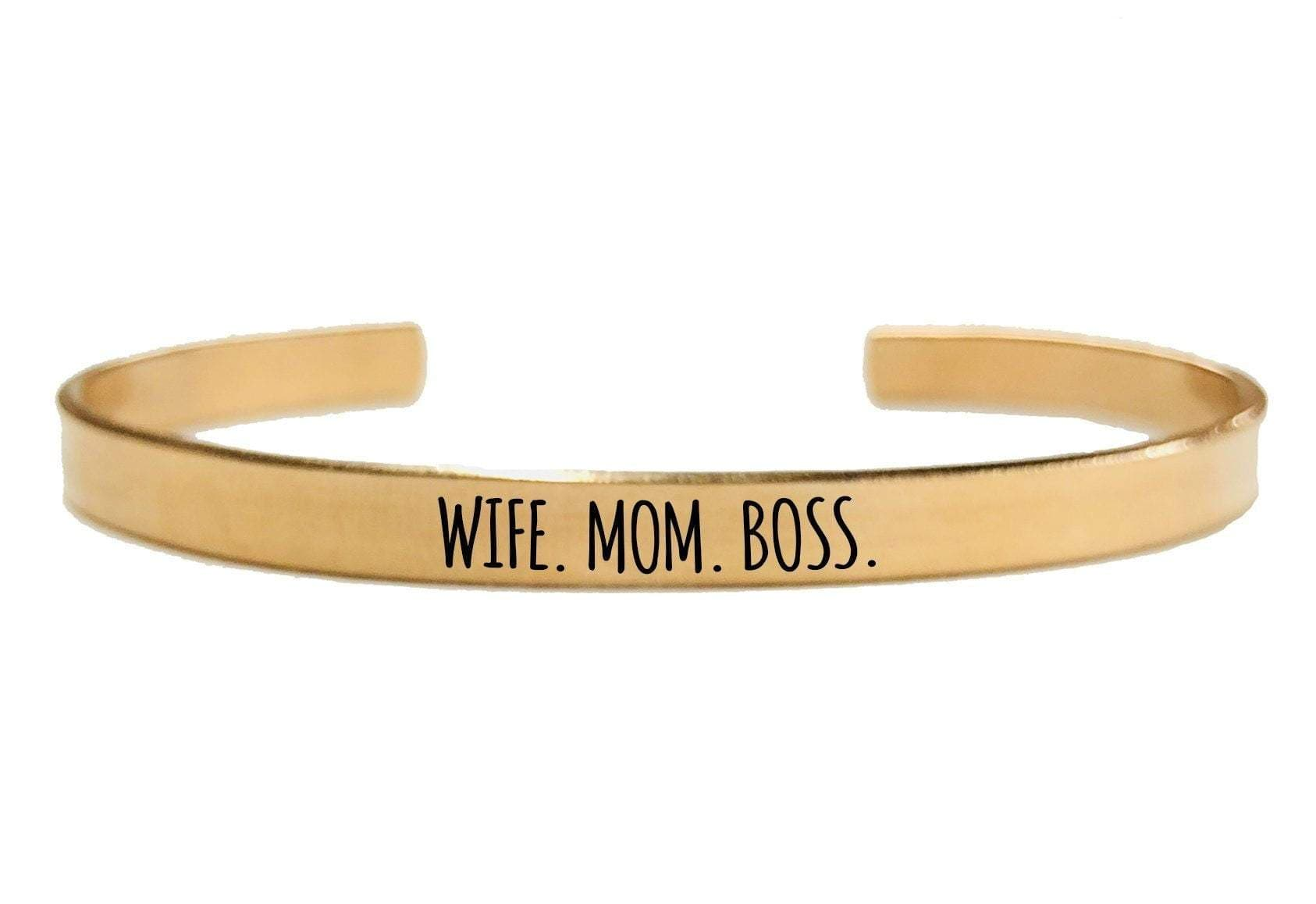 WIFE MOM BOSS CUFF BRACELET