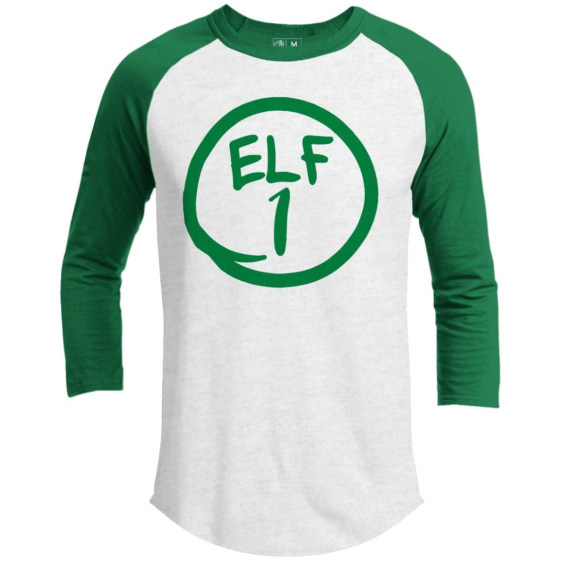 Elf 1 Premium Group Christmas Raglan
