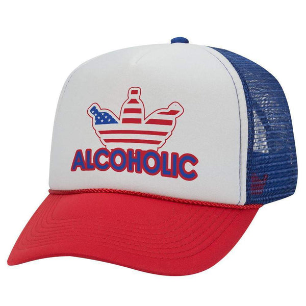 ALCOHOLIC TRUCKER HAT