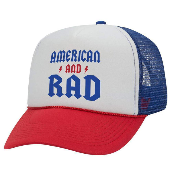 AMERICAN AND RAD TRUCKER HAT