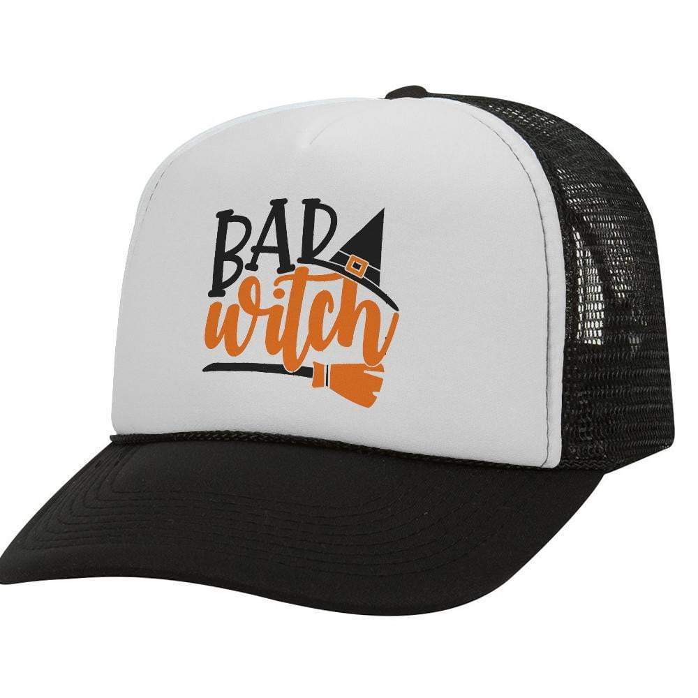 Bad Witch BW Halloween Trucker Hat