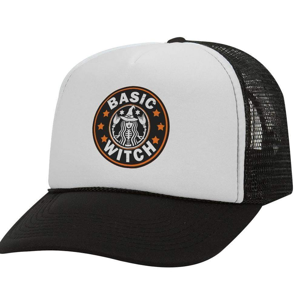 Basic Witch BW Halloween Trucker Hat