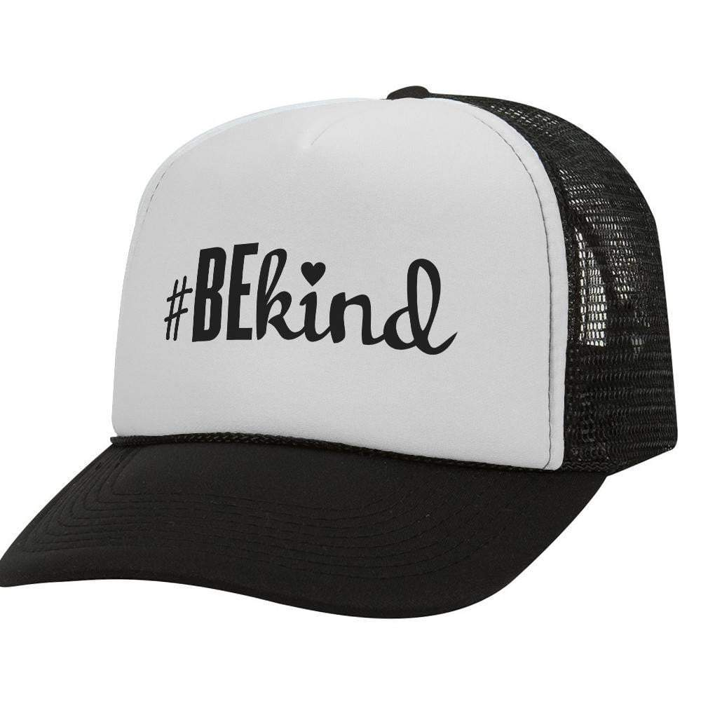 #Be Kind BW Trucker Hat