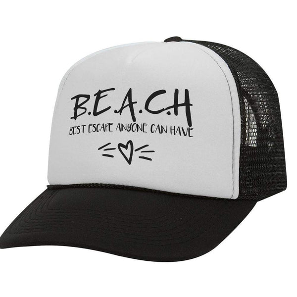 Beach BW Trucker Hat