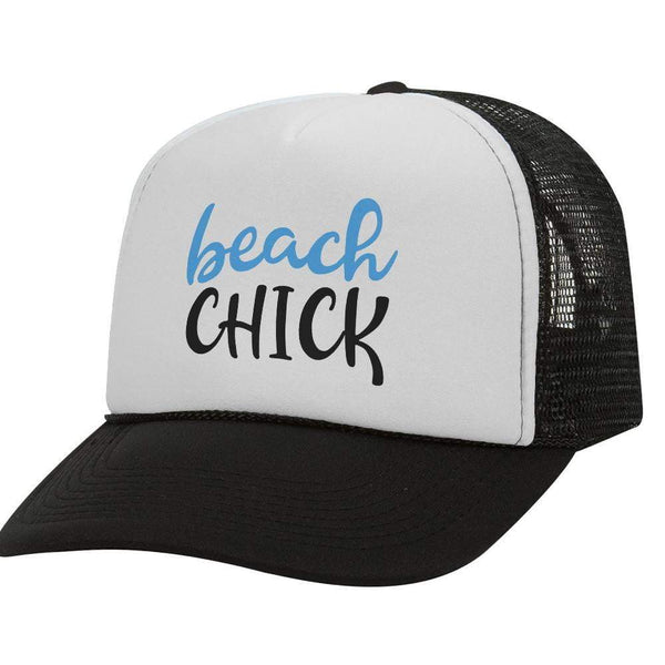 Beach Chick BW Trucker Hat
