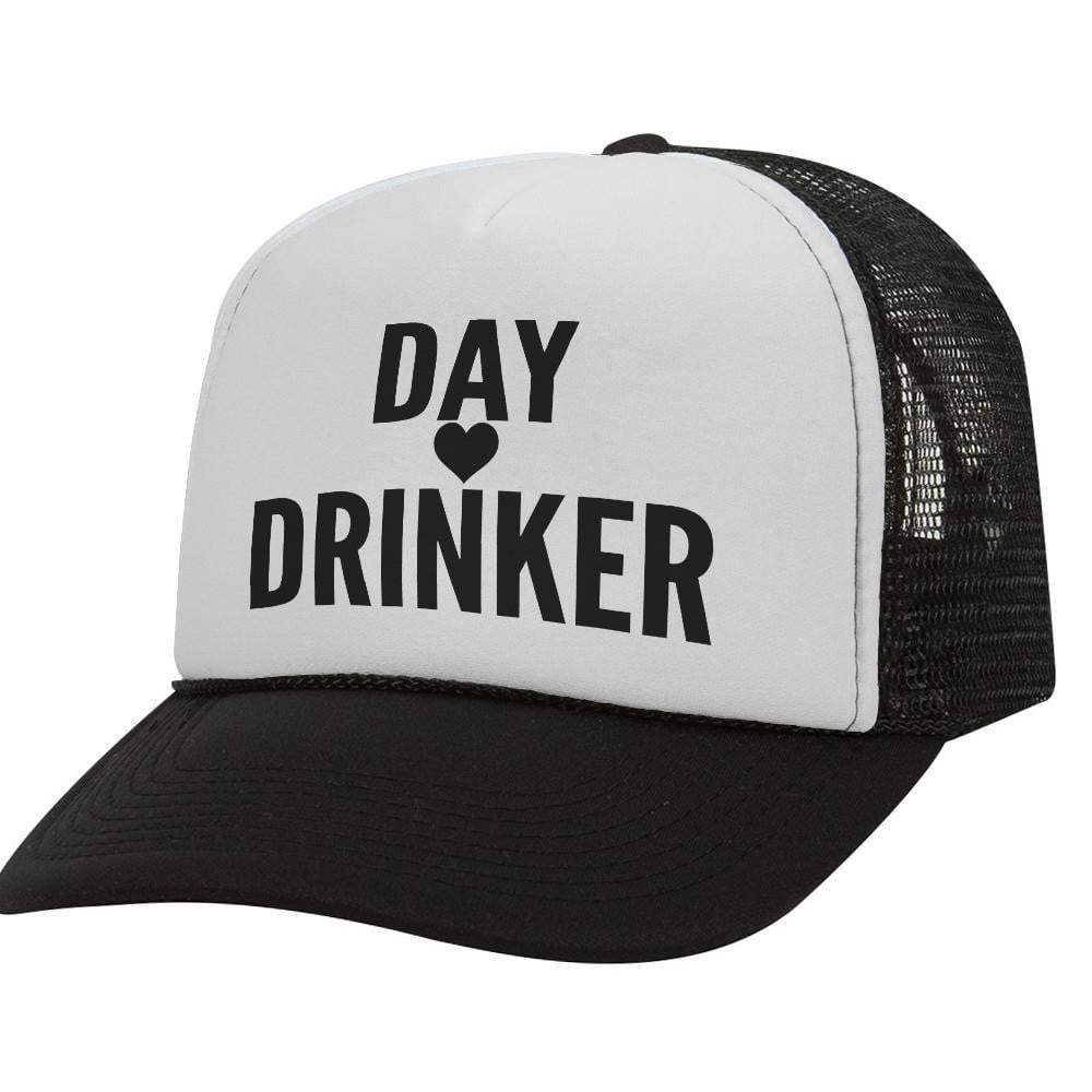 Day Drinker Heart BW Trucker Hat