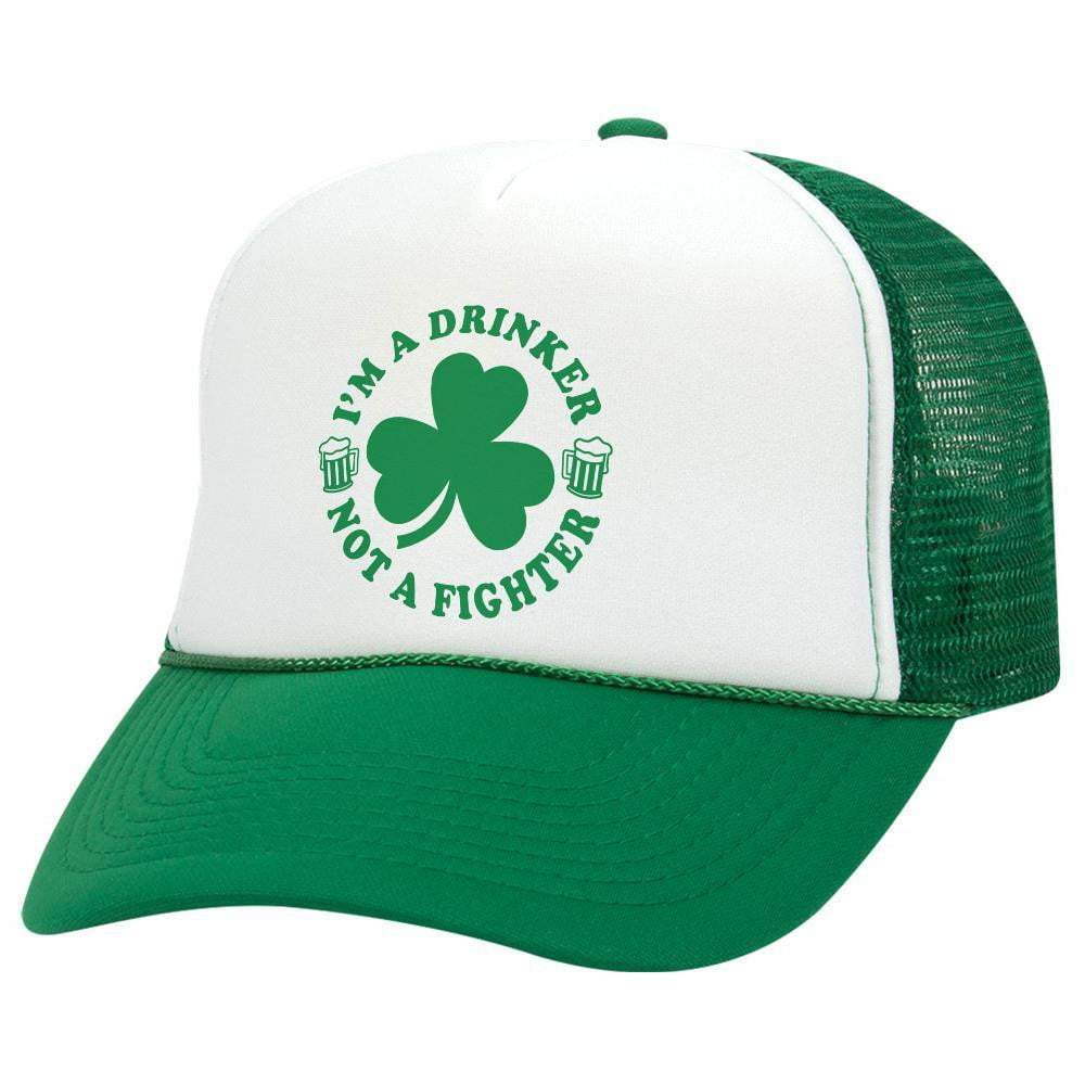 Drinker Not A Fighter St. Patrick's Day Trucker Hat