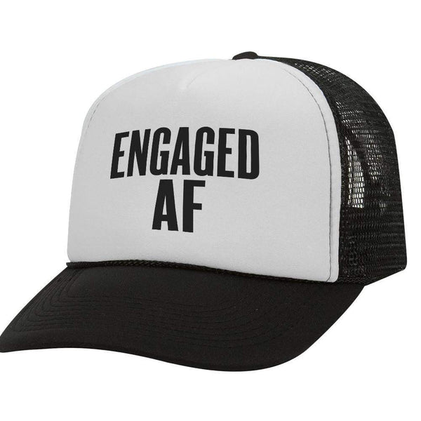 Engaged AF BW Trucker Hat