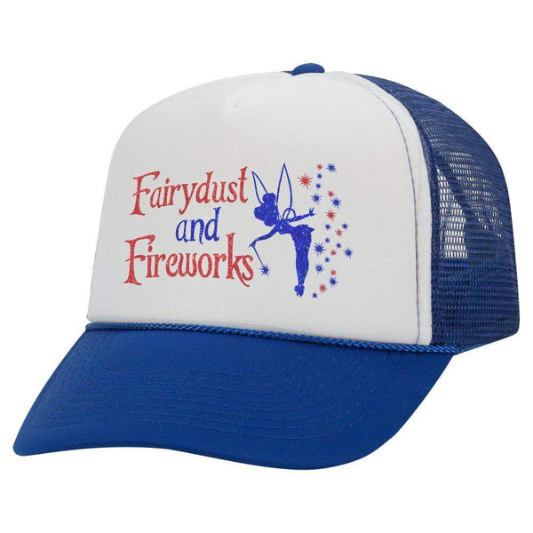 Fairydust And Fireworks Youth Trucker Hat (Glitter)