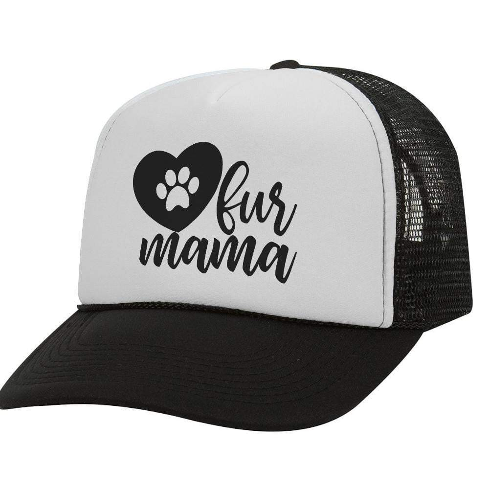 Fur Mama BW Trucker Hat