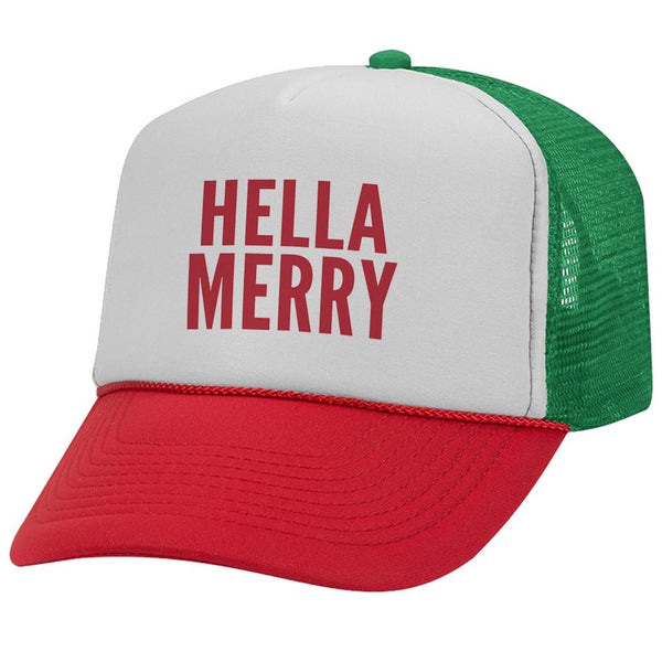 Hella Merry Christmas Vinyl Trucker Hat