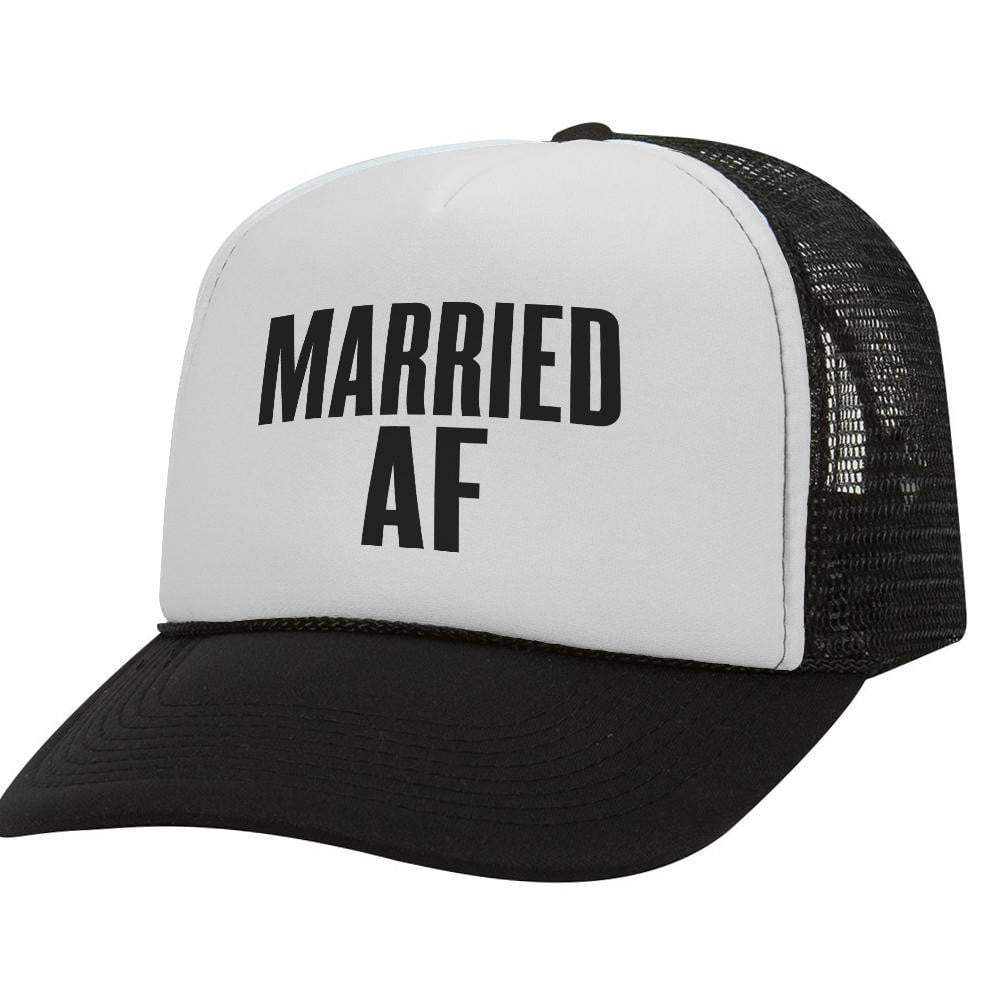 Married AF BW Trucker Hat