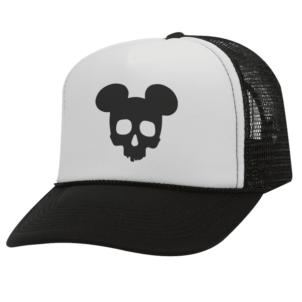 MICKEY SKULL BW Halloween Trucker Hat