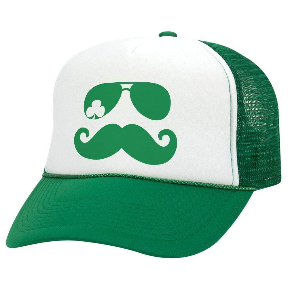 Mustache Shades St. Patrick's Day Trucker Hat