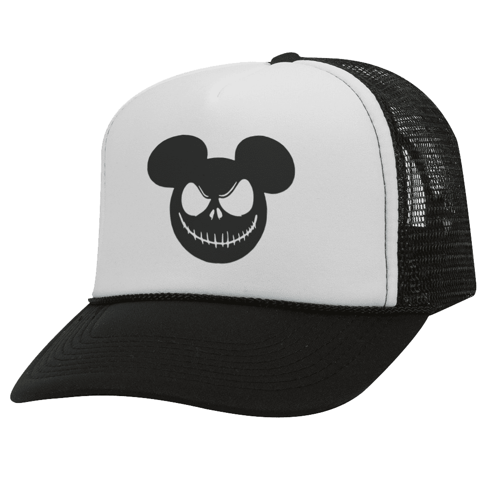 NIGHTMARE MOUSE BW Halloween Trucker Hat