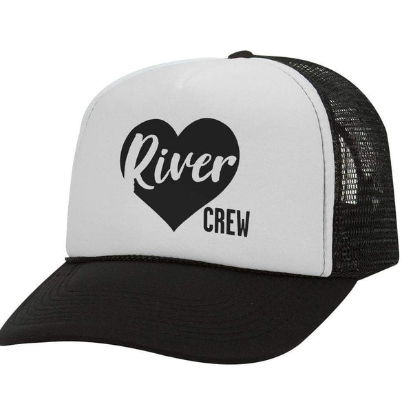 River Crew Heart BW Trucker Hat