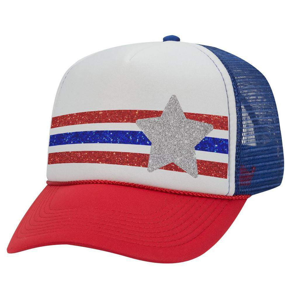 Stars And Stripes Trucker Hat (Glitter)