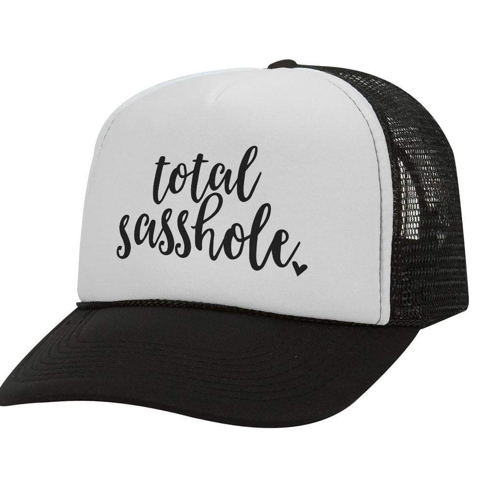 Total Sasshole BW Trucker Hat
