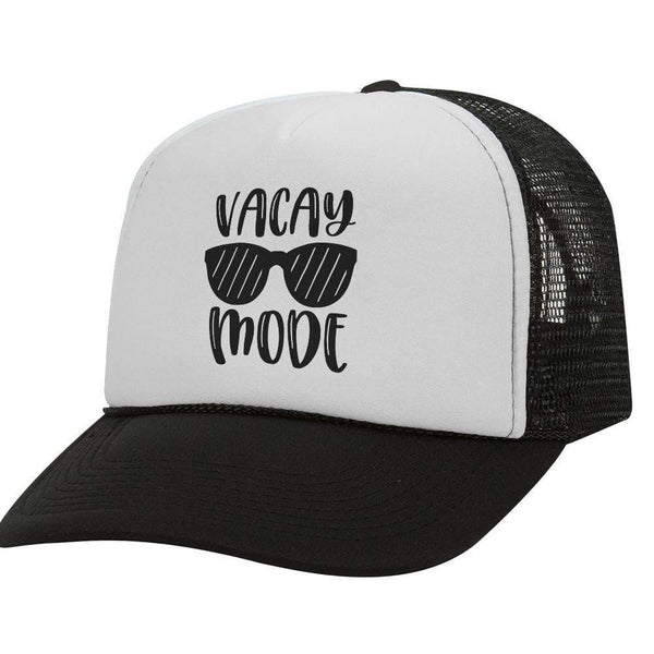 Vacay Mode BW Trucker Hat