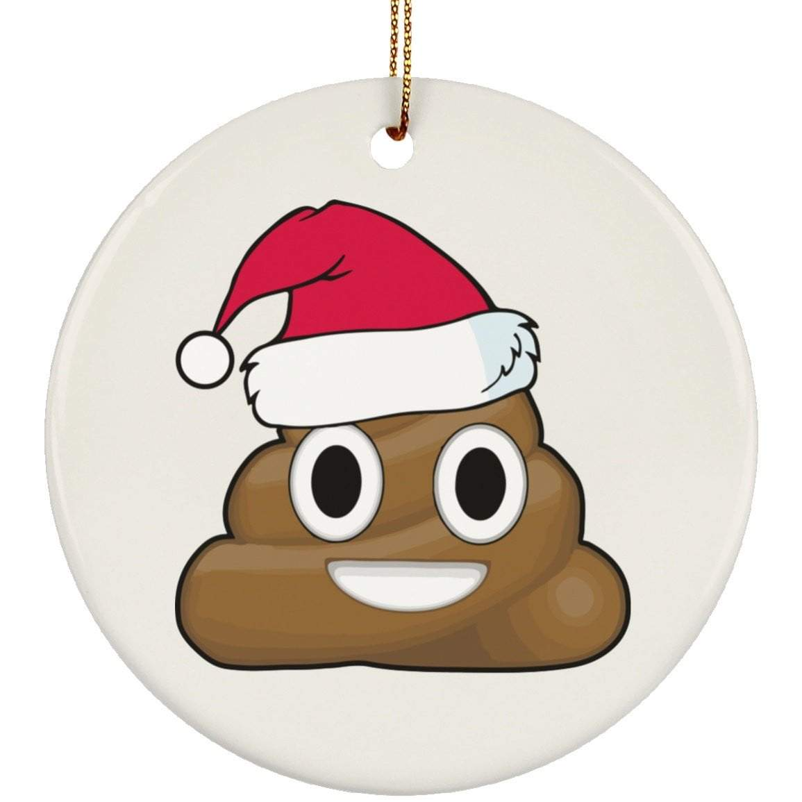 CHRISTMAS POO Christmas Ceramic Circle Ornament
