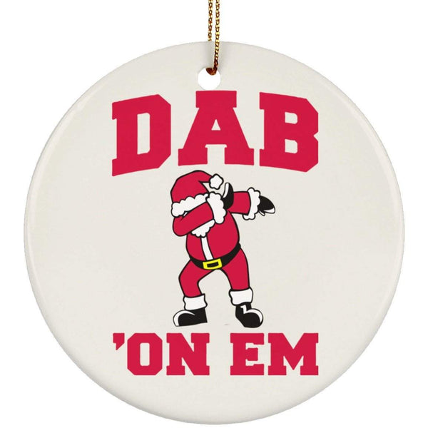 DAB ON EM Christmas Ceramic Circle Ornament