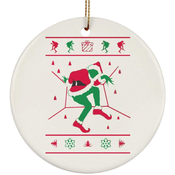 GRINCH HOTLINE BLING Christmas Ceramic Circle Ornament