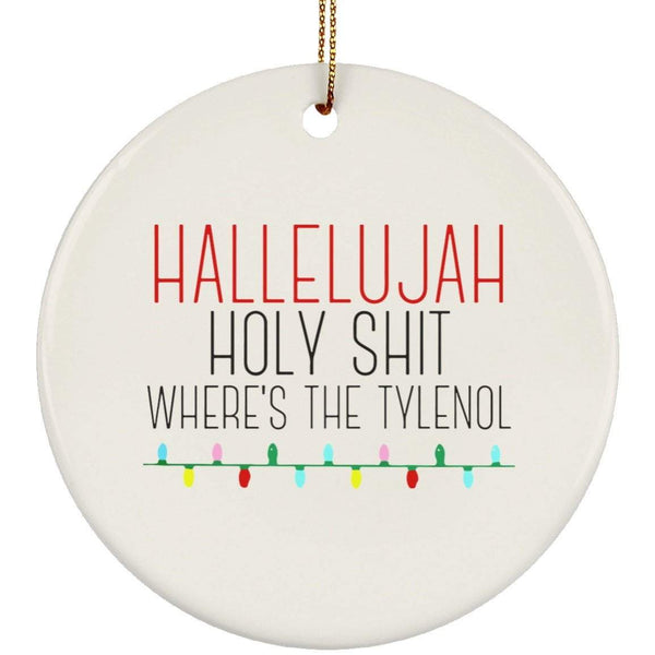 HALLELUJAH Christmas Ceramic Circle Ornament