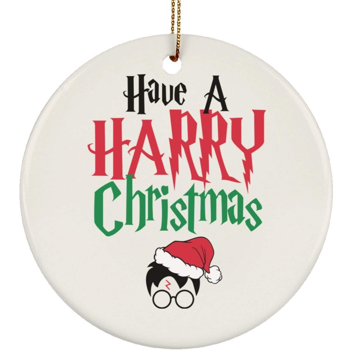 HARRY POTTER CHRISTMAS Christmas Ceramic Circle Ornament