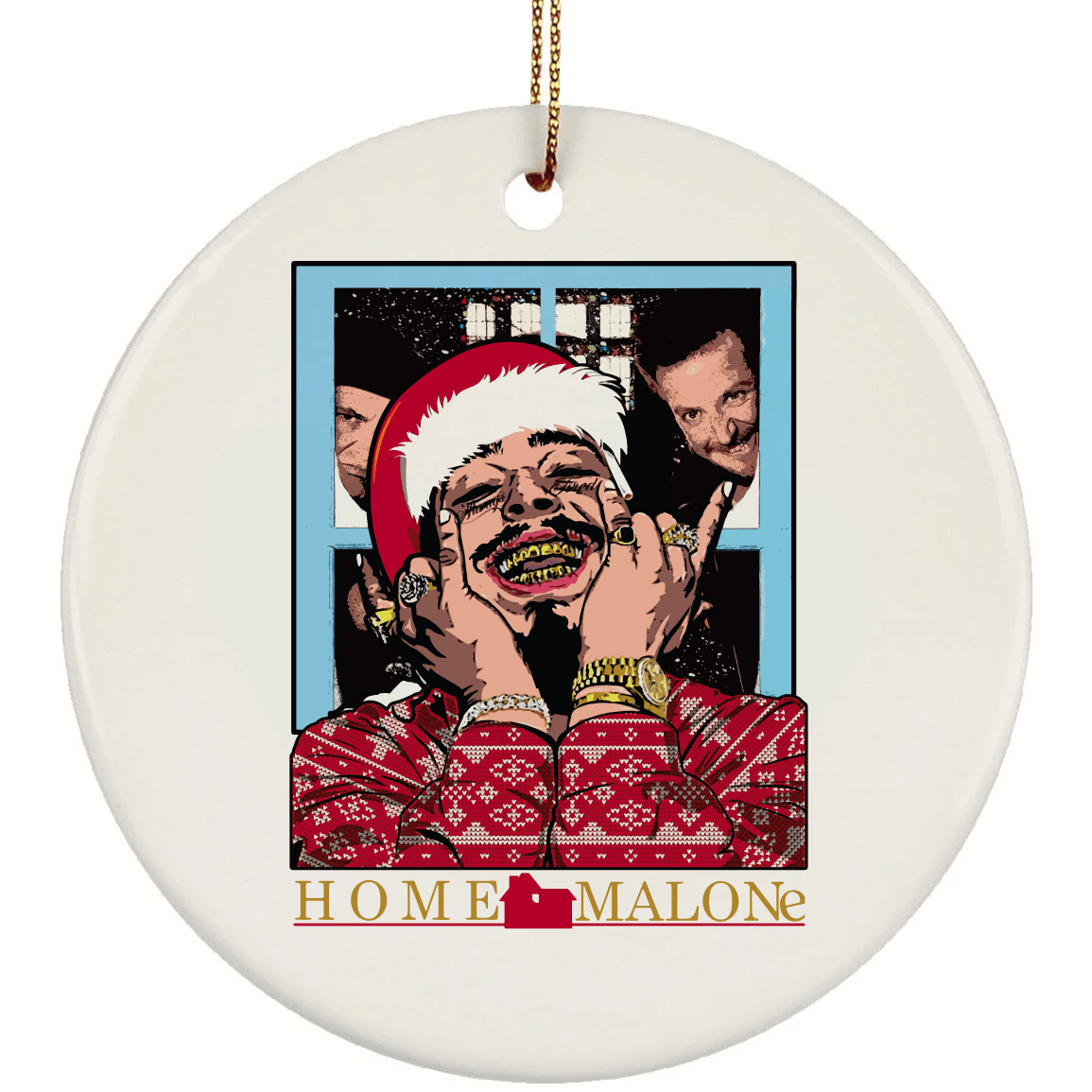 Home Malone Christmas Ceramic Circle Ornament