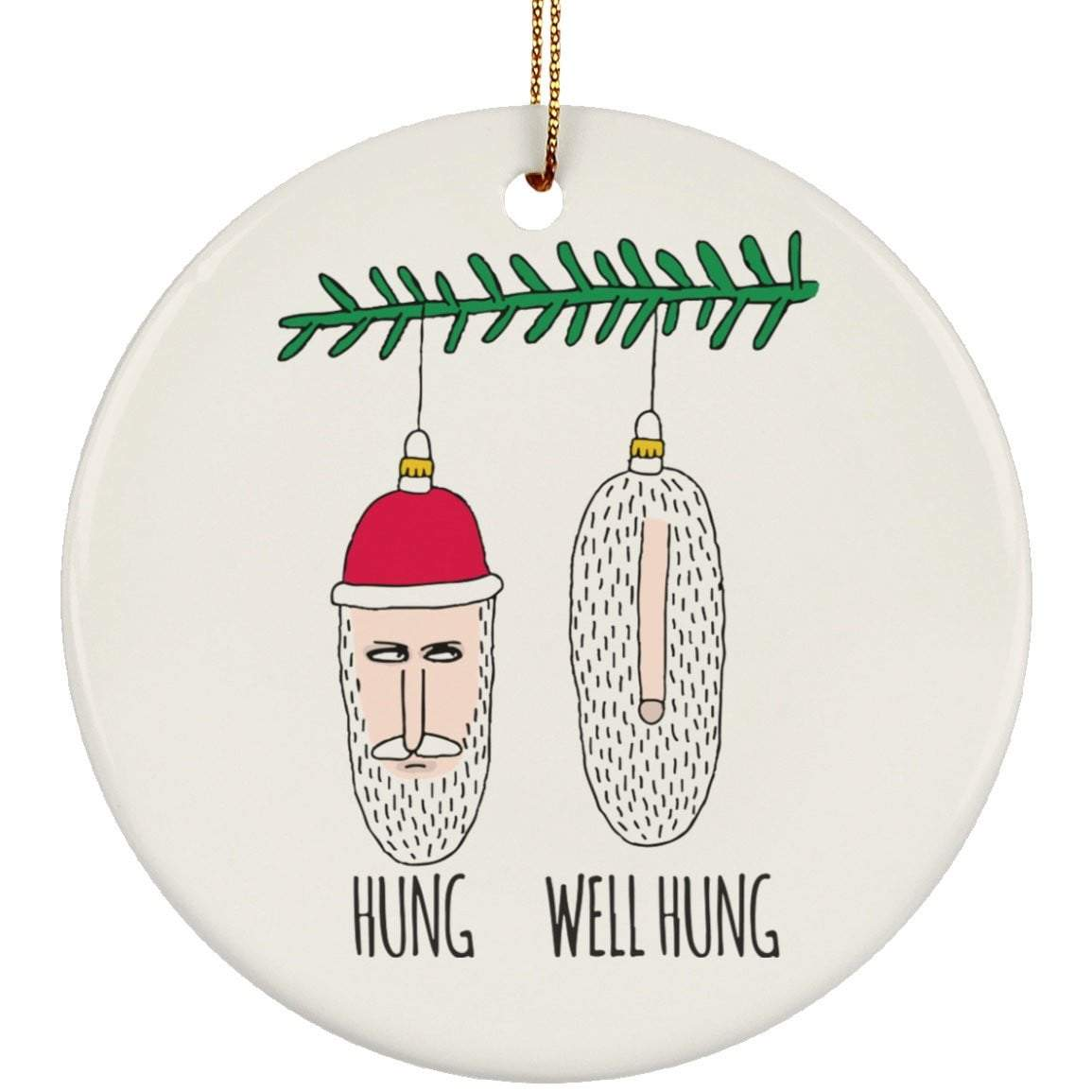 HUNG WELL HUNG Christmas Ceramic Circle Ornament