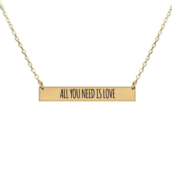 ALL YOU NEED IS LOVE BAR NECKLACE
