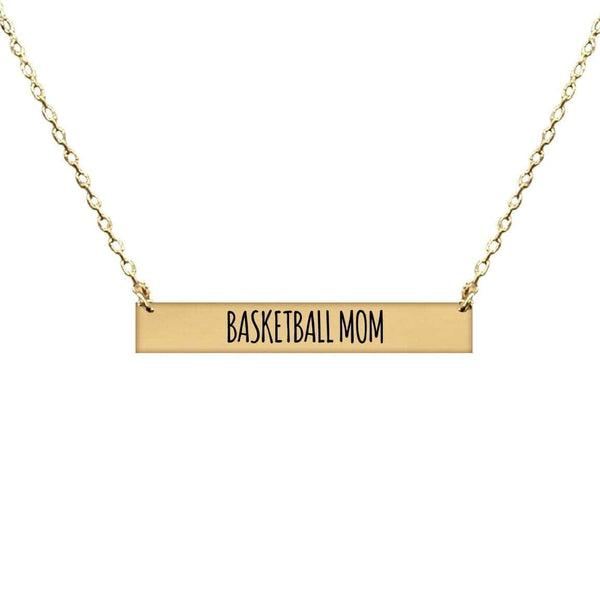 BASKETBALL MOM Bar Necklace