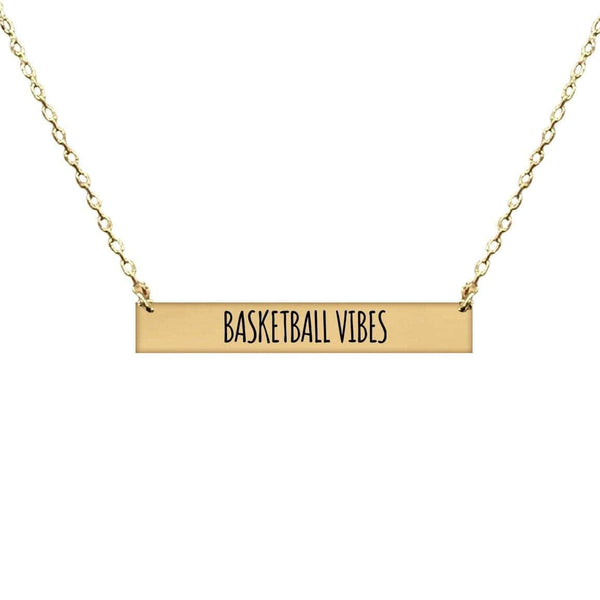 BASKETBALL VIBES BAR NECKLACE