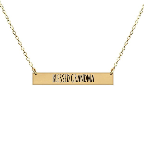 BLESSED GRANDMA BAR NECKLACE
