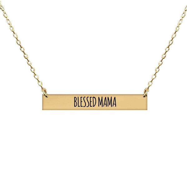 BLESSED MAMA BAR NECKLACE