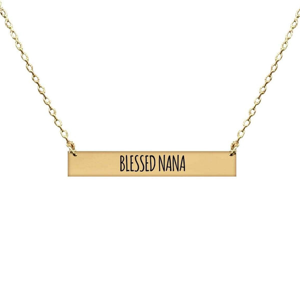 BLESSED NANA BAR NECKLACE