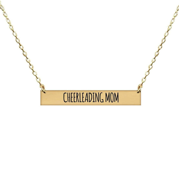 CHEERLEADING MOM BAR NECKLACE