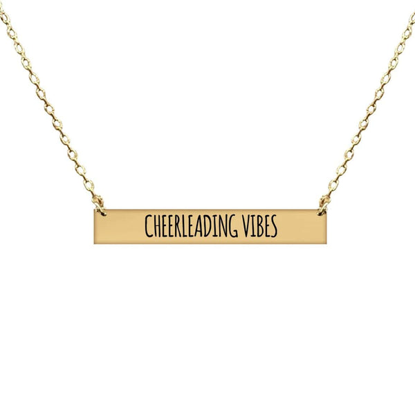 CHEERLEADING VIBES BAR NECKLACE