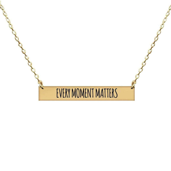 EVERY MOMENT MATTERS BAR NECKLACE