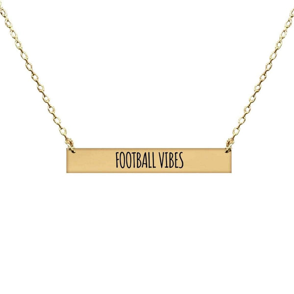 FOOTBALL VIBES BAR NECKLACE